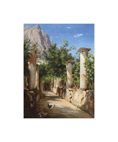An Ancient Colonnade, Italy-Carl Frederic Aagaard-Premium Giclee Print