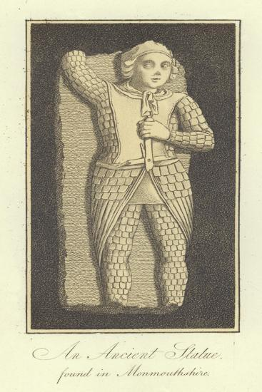 An Ancient Statue Found in Monmouthshire--Giclee Print