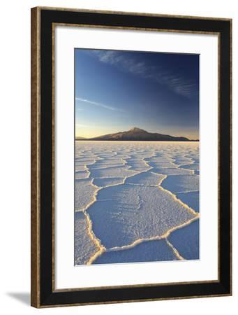 An Andean Volcano Rises Above the Salar De Uyuni-Roberto Moiola-Framed Photographic Print
