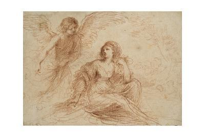 An Angel Appearing to Hagar and Ishmael, C.1653-Guercino-Giclee Print