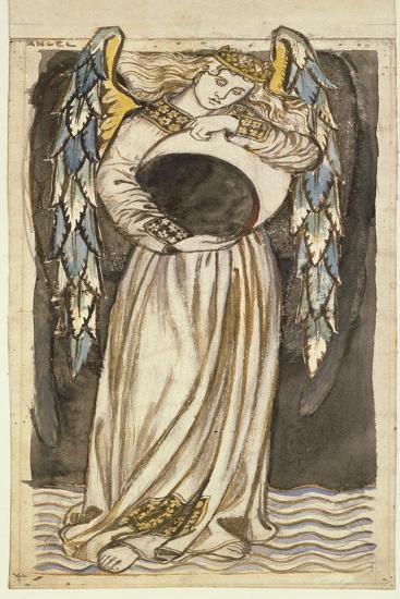 An Angel Holding a Waning Moon-William Morris-Premium Giclee Print