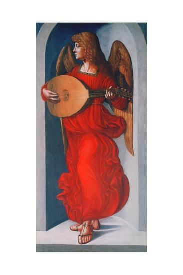 An Angel in Red with a Lute, 1490-1499-Leonardo da Vinci-Giclee Print