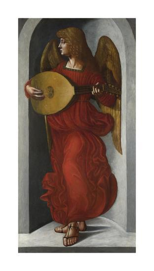 An Angel in Red with a Lute-Leonardo Da Vinci-Premium Giclee Print