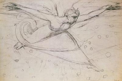 An Angel Striding Among the Stars-William Blake-Giclee Print