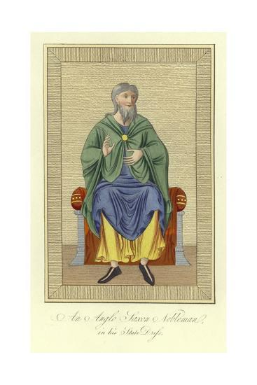 An Anglo-Saxon Nobleman in His State Dress--Giclee Print