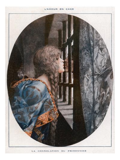 An Anonymous Prisoner Is Consoled with a Kiss from a Beautiful Woman--Giclee Print