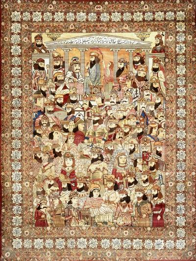An Antique Kirman Masha'Ir Carpet--Giclee Print