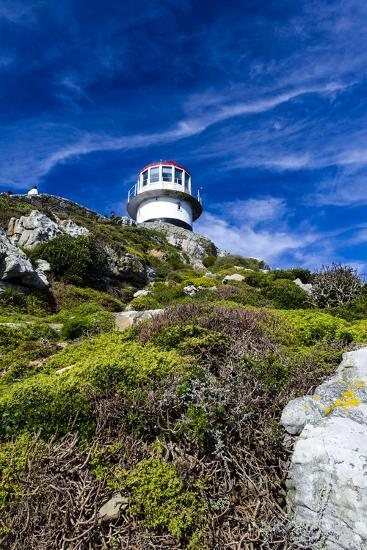 An Antique Lighthouse Summits a Cliff Near the Cape of Good Hope-Jason Edwards-Photographic Print