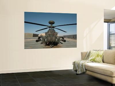 An Apache Helicopter at Camp Bastion, Afghanistan-Stocktrek Images-Wall Mural