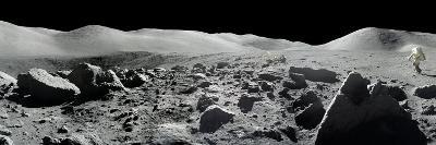 An Apollo 17 Composite Photograph at Station 5 Shows a Stretch of Rock-strewn Moon Features--Photographic Print