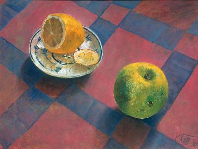 An Apple and a Lemon, 1930-Kosjma Ssergej Petroff-Wodkin-Giclee Print
