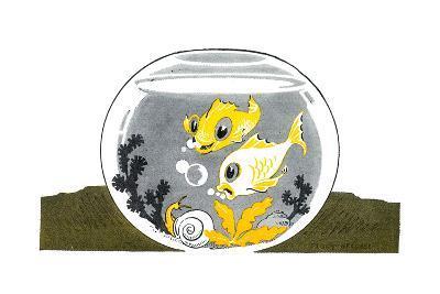 An Aquarium - Jack & Jill-Peggy Smithers-Giclee Print