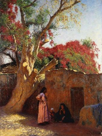 An Arab Family Outside a Village, 1917-Ludwig Deutsch-Giclee Print