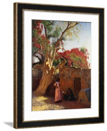An Arab Family Outside a Village-Ludwig		 Deutsch-Framed Giclee Print