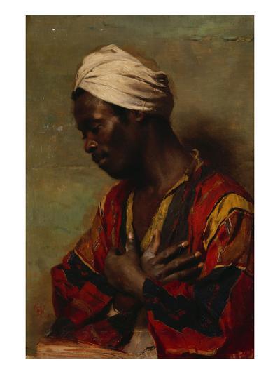 An Arab in Meditation-Carl Ludwig Ferdinand Messmann-Giclee Print