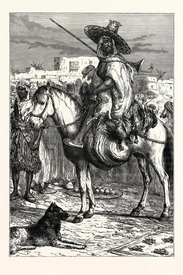 An Arab Merchant at Tlemcen, Algeria--Giclee Print