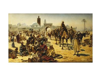 An Arab Slave Market-Ferencz-Franz Eisenhut-Giclee Print