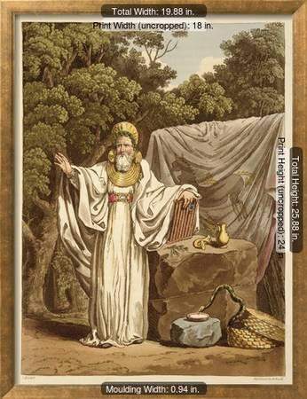 An Arch Druid In His Judicial Habit Giclee Print Charles Hamilton Smith Art Com