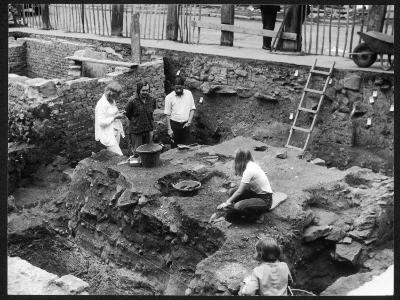 An Archaeological Dig on a Roman Site at Chester, England--Photographic Print