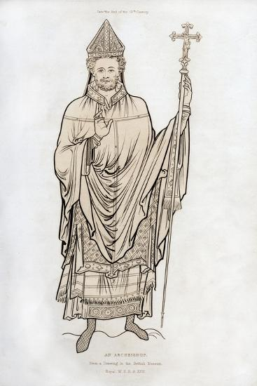 An Archbishop, Late 12th Century-Henry Shaw-Giclee Print