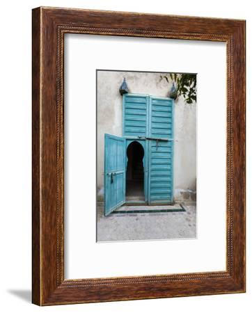 An Arched Door in Le Jardin Des Biehn, a Riad or Small Hotel in the Medina of Fez-Richard Nowitz-Framed Photographic Print