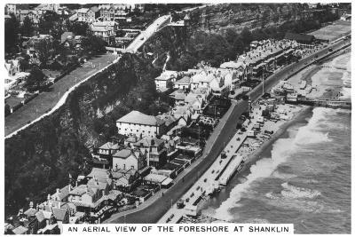 An Arial View of the Foreshore at Shanklin, 1936--Giclee Print