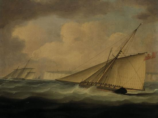 An Armed Cutter off the Coast-Thomas Buttersworth-Giclee Print