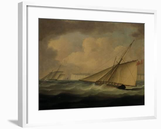 An Armed Cutter off the Coast-Thomas Buttersworth-Framed Giclee Print