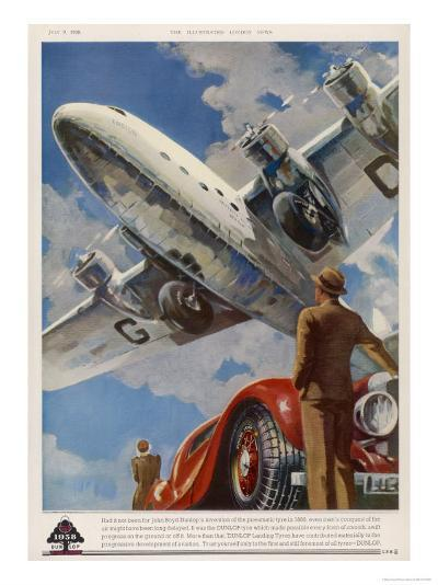 """An Armstrong Whitworth """"Ensign"""" of Imperial Airways Takes Off--Giclee Print"""