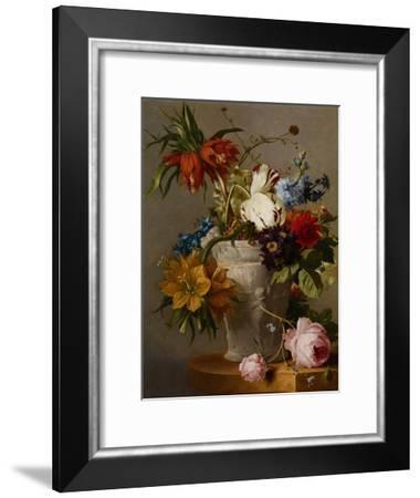 An Arrangement with Flowers, 19th Century-Georgius Jacobus Johannes van Os-Framed Giclee Print