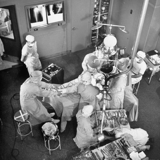 An Artifical Hip Joint Surgery-Al Fenn-Premium Photographic Print
