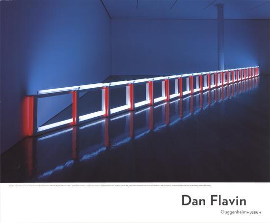 An Artificial Barrier Blue, Red and Blue Fluorescent Light (to Flavin Starbuck Judd)-Dan Flavin-Art Print