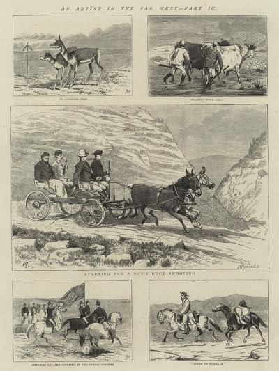 An Artist in the Far West, Part IV-Alfred Chantrey Corbould-Giclee Print