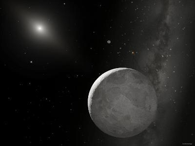 An Artist's Concept of Kuiper Belt Object 2003 UB313 (Nicknamed Xena) and Its Satellite Gabrielle-Stocktrek Images-Photographic Print