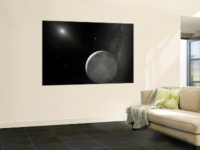 An Artist's Concept of Kuiper Belt Object 2003 UB313 (Nicknamed Xena) and Its Satellite Gabrielle--Wall Mural