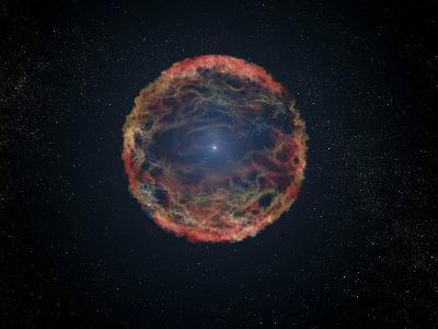 An Artist's Impression of Supernova 1993J--Art Print