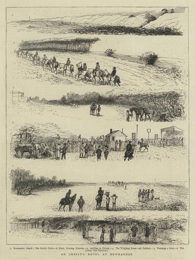 An Artist's Notes at Newmarket--Giclee Print