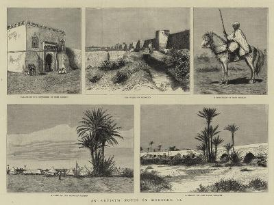 An Artist's Notes in Morocco, II--Giclee Print