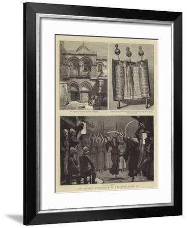 An Artist's Pilgrimage in the Holy Land, IX-Joseph Nash-Framed Giclee Print