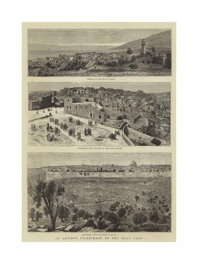 An Artist's Pilgrimage to the Holy Land--Giclee Print