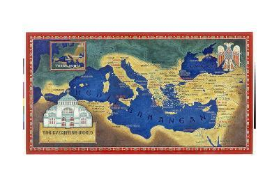 An Artist's Recreation of the Byzantine Empire under Justinian I-Jean-Leon Huens-Giclee Print