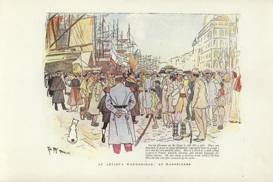 An Artist's Wanderings, at Marseilles-Phil May-Giclee Print