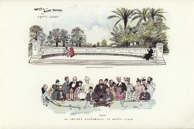 An Artist's Wanderings, at Monte Carlo-Phil May-Giclee Print