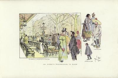 An Artist's Wanderings, in Paris-Phil May-Giclee Print
