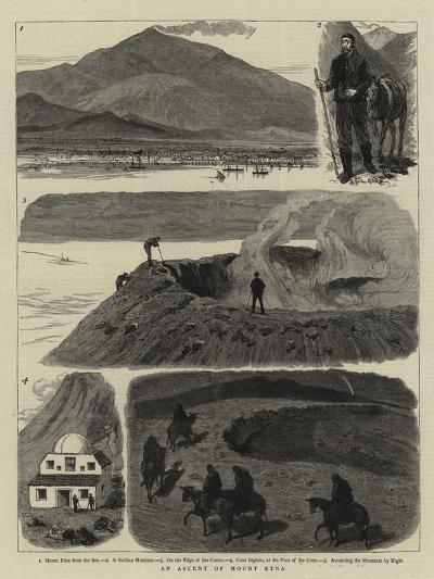 An Ascent of Mount Etna--Giclee Print