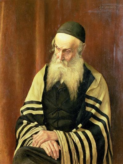 An Ashkenazi Rabbi of Jerusalem-George Sherwood Hunter-Giclee Print