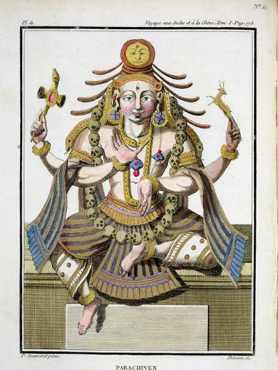 """An Aspect of Shiva, from """"Voyage Aux Indes Et a La Chine""""-Pierre Sonnerat-Giclee Print"""