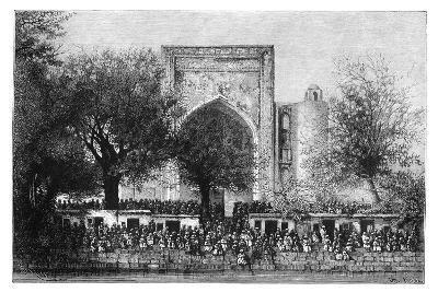 An Assembly before the Mosque in Bukhara, Uzbekistan, 1895-Armand Kohl-Giclee Print