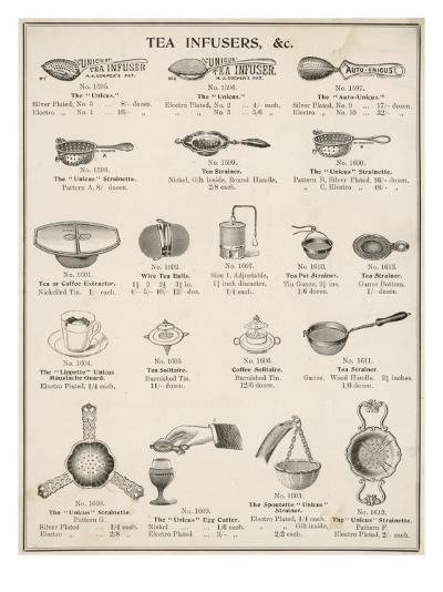 An Assortment of Tea Infusers--Giclee Print