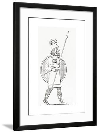 An Assyrian Spearman. from the Imperial Bible Dictionary, Published 1889--Framed Giclee Print
